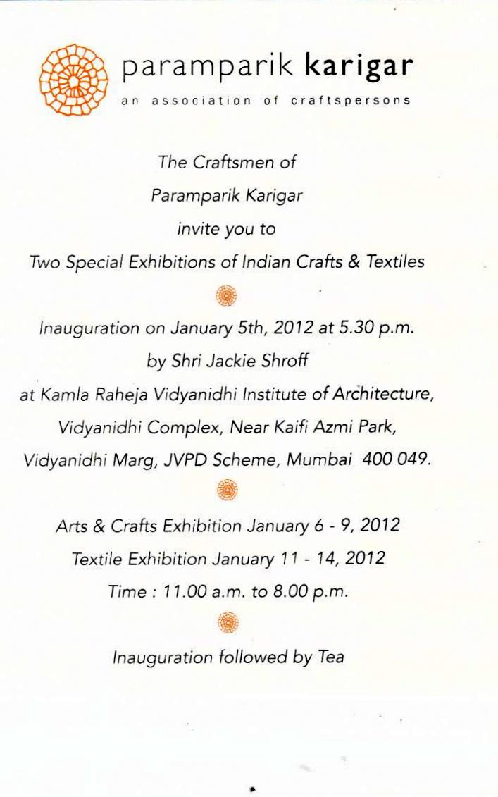 arts craft textile paramparik karigar exhibition master craftsmen