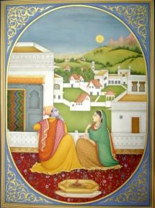 Miniature painting by S Shakir Ali