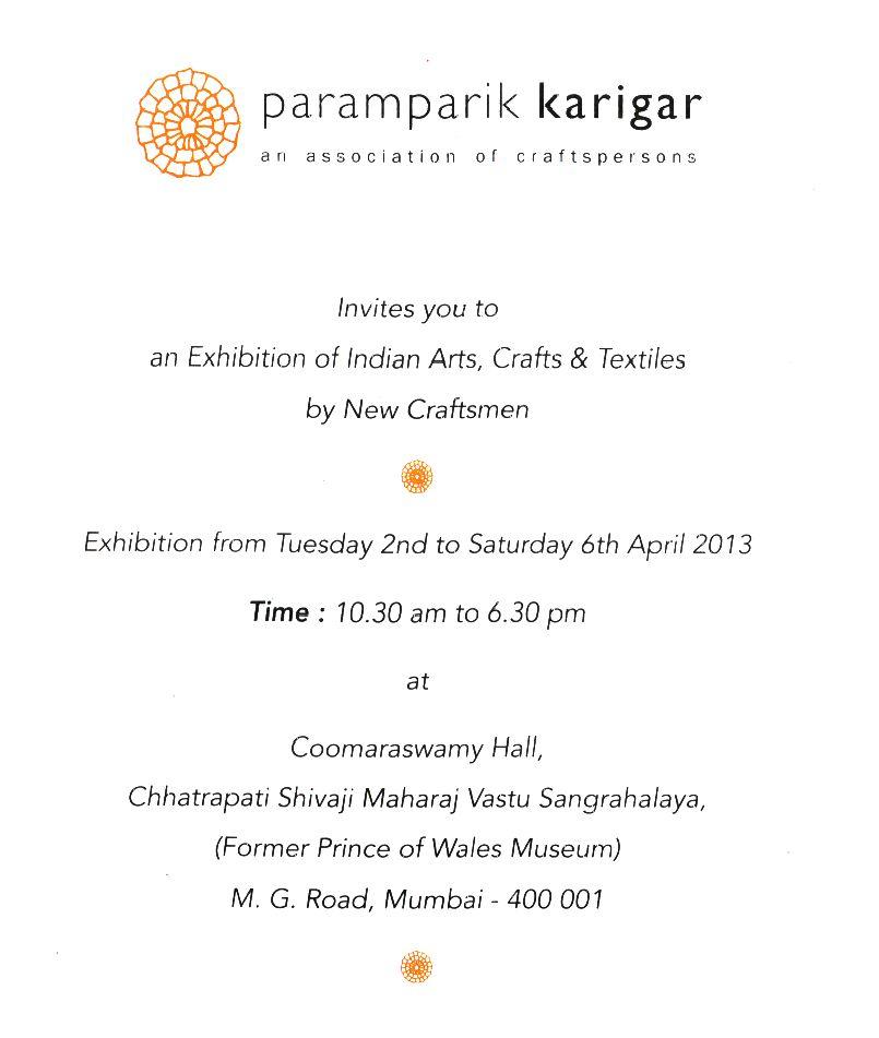 Arts Crafts Textile Event In Mumbai By New Craftsmen Paramparik