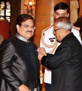 mr. Shakir Ali awarded Padma Shri by President of India
