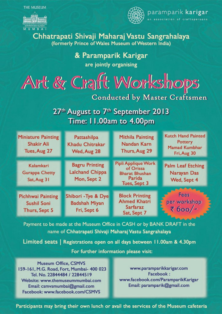Paramparik-Workshop-Poster