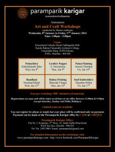 Paramparik karigar Mumbai Workshop