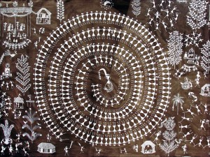 Warli painting by Jivya Soma Mashe