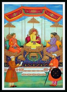 Padmashri S. Shakir Ali - Mughal court scene