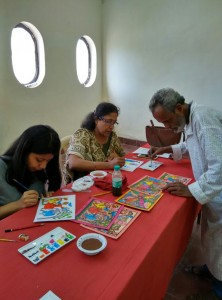 Pattachitra Workshop, Mumbai workshop, paramparik karigar