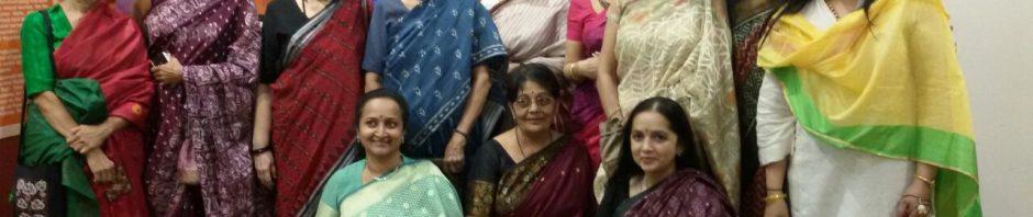 Arundhati Nanavati with her Associate Members of Paramparik Karigar